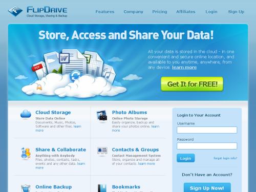 FlipDrive — Free Secure Online File Storage, Internet File